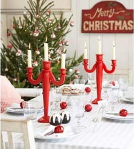 The Red & White Xmas Table Theme Decor