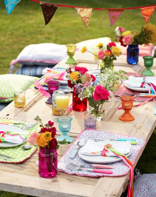 Colorful Easter Table Setting Idea Perfect Decorations