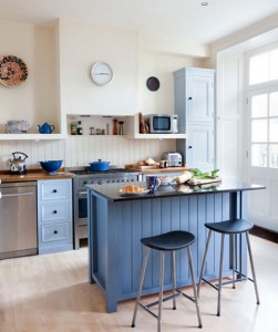 Sheds of Blue Color Kitchen Table Idea