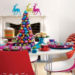 Enticing Colourful Christmas Table Decoration Idea