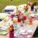 Colorful Easter Table Setting Idea